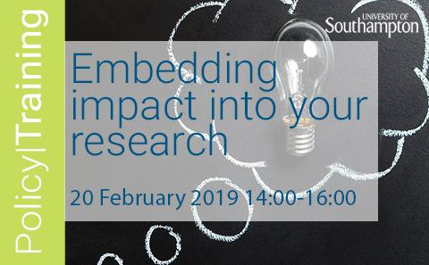 Embedding impact into your research