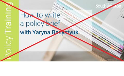 How to write a policy brief