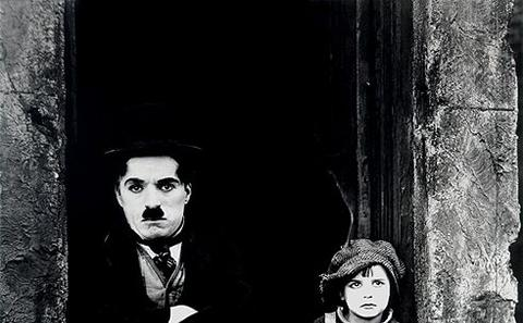 "Charlie Chaplin in ""The Kid"""