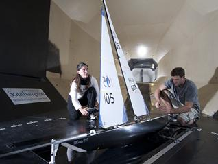 Researchers in our wind tunnel