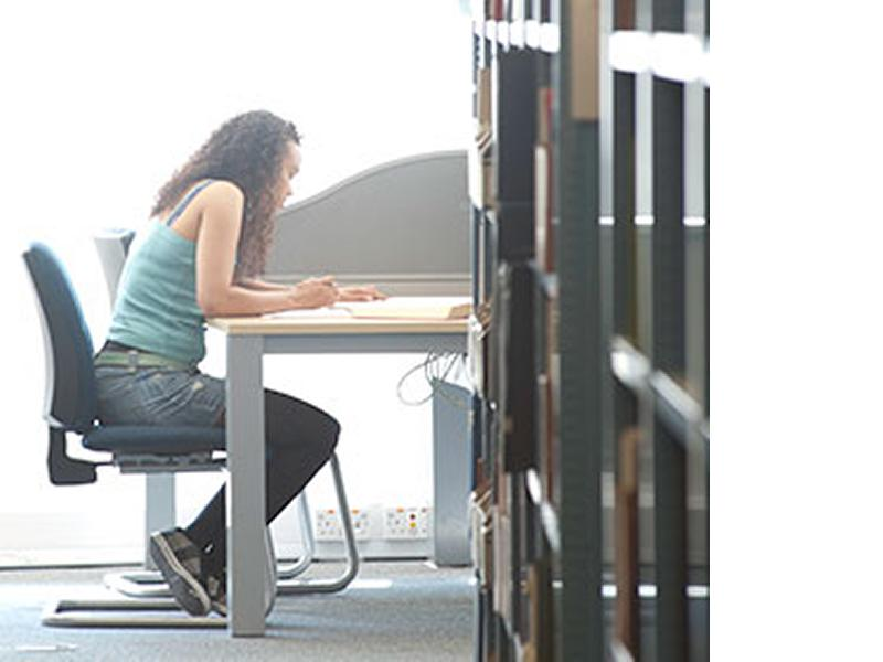 person sitting at desk