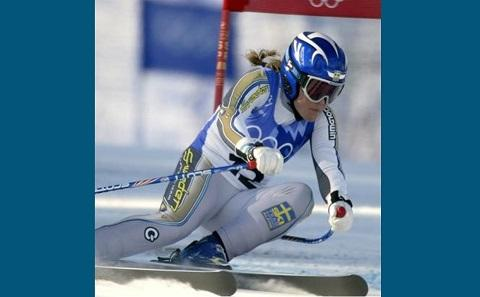 An Olympic skier