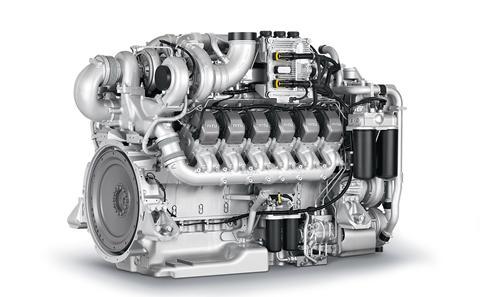 MTU 16V 2000 m96 diesel engine