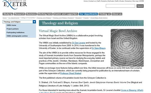 The Virtual Magic Bowl Webpage