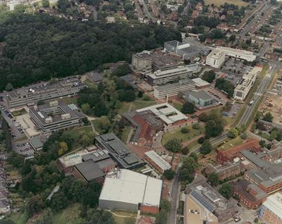Aerial view of the University of Southampton