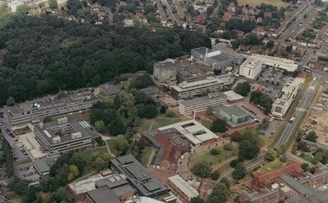 Aerial view of Southampton University
