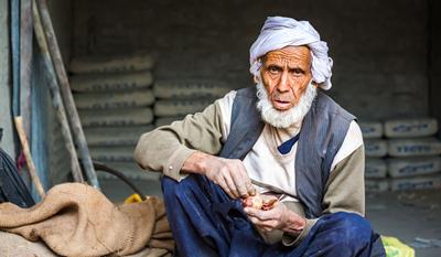 Older man in Pakistan