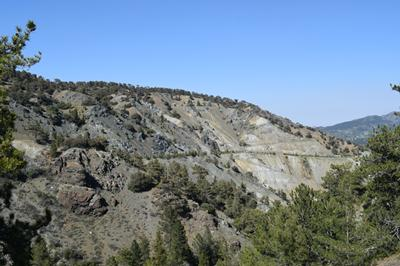 Highly serpentinised mantle rocks