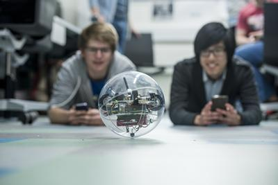 Students test robotic orb