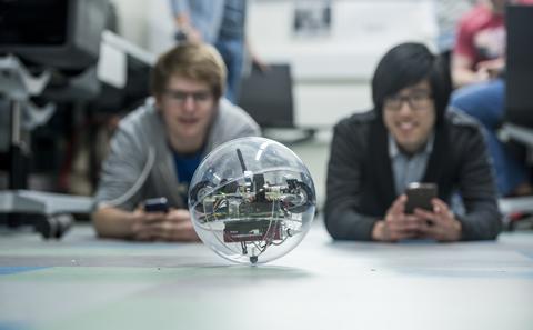 Students test robotic orb