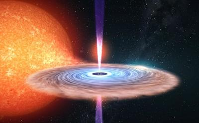 Picture of black hole jet