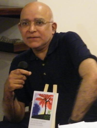 Aamer Hussein at reading, 2010