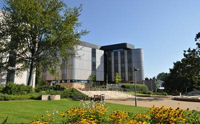 Life Sciences building on campus