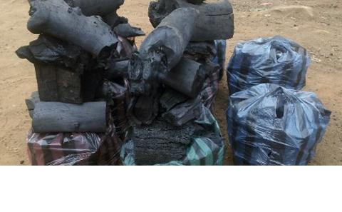 Bags of charcoal in Malawi