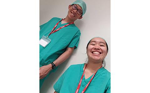 Weldon Wong and Krystal Yap