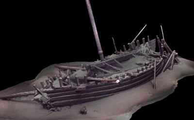 Photogrammetric model of Roman ship