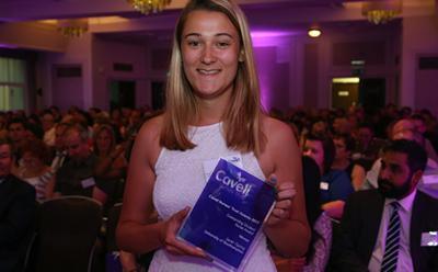 Sarah with her Cavell award
