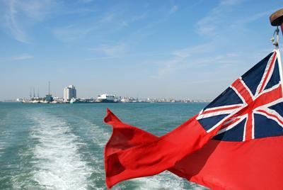 Flag over the sea