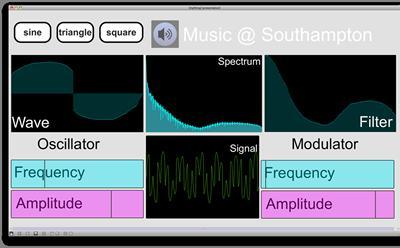 A screenshot of the Music software