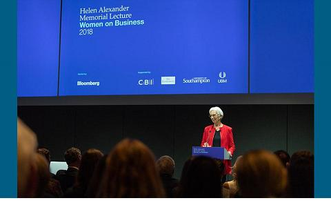 Christine Lagarde lecture