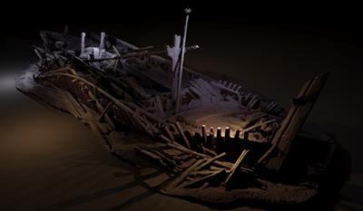 Photogrammetric image of wreck