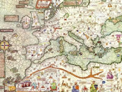 Medieval mediterranean map