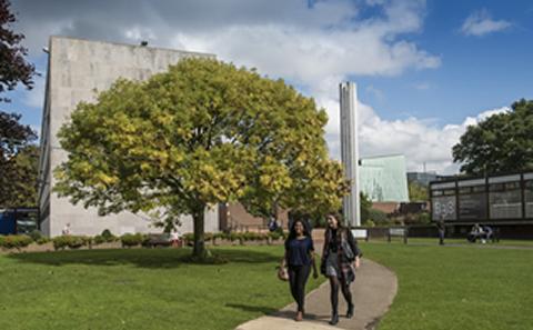 Highfield Campus in spring