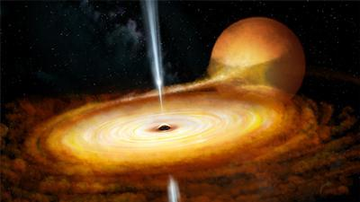 Illustration of black hole