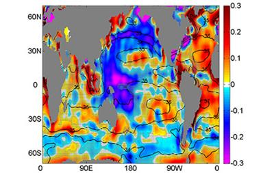 60-year trends in surface salinity