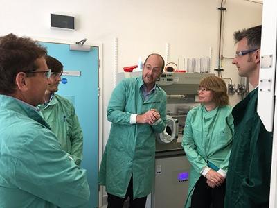 Professor Jeremy Webb with visitors