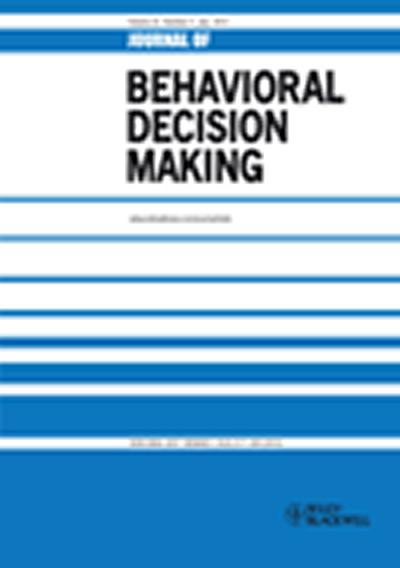 Journal of Behavioral Making cover