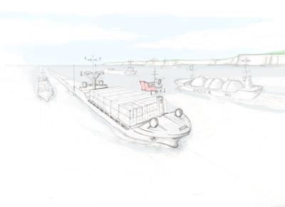 Autonomous ship sketch