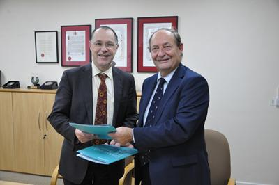 Prof Mark Smith and Cllr Keith Mans