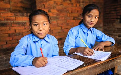 Young students in Nepal