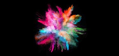 Colourful powders