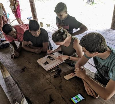 Students with local in Amazon