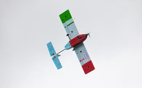 The winning UAV in flight