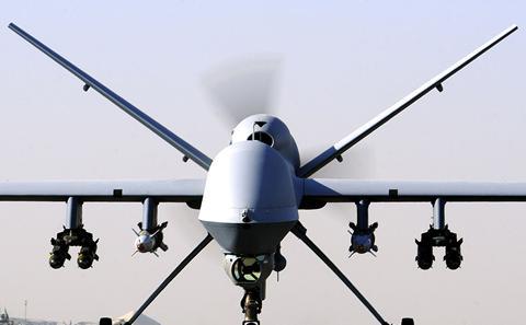Drone used in warfare