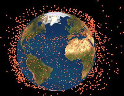 Satellite Debris Study University Of Southampton - Photos from satellite