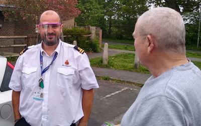 Coastguard receiving PPE