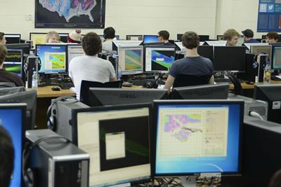 students using a computer room
