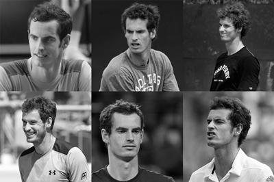 Variation in photos of Andy Murray