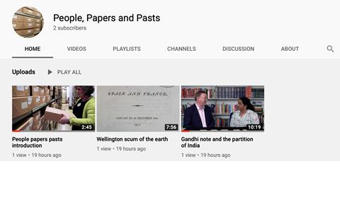 Special Collections Youtube Channel