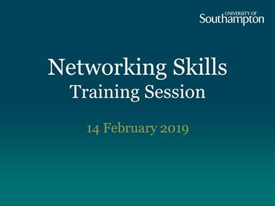 Networking Skills training