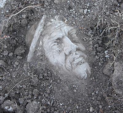 Portus marble head