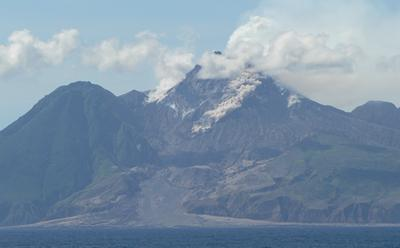 Volcanic debris flow avalanche