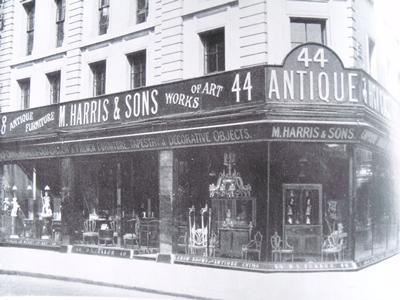 Antiques shop, London 1921