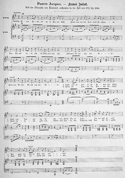 18th-century musical score