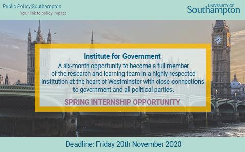 Institue for Government Internships