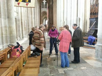 The team working at the Cathedral